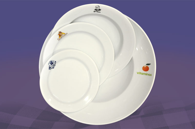 customized dishes with logo - foto 1