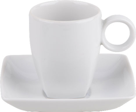 cup with saucer carré 8cl